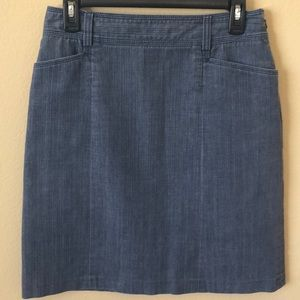 J. Crew Stretch Denim Pencil Skirt